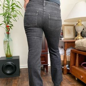 Theory Jeans Faded Black Straight Cut
